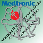 Medtronic and AHA logos
