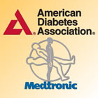 American Diabetes Association and Medtronic logos