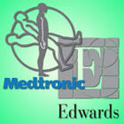 Medtronic and Edwards logos