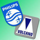 Volcano and Philips logos