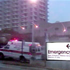 Ambulance and hospital