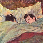 The Bed by Toulouse-Lautrec