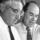 Pete Nicholas and John Abele, co-founders of Boston Scientific