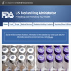 FDA Website today (click for larger image)
