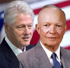 Presidents Bill Clinton and Dwight Eisenhower