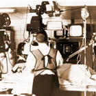 Mason Sones in a Philips cath lab of the 50's